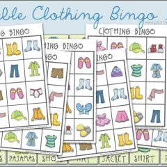 Clothing Bingo Game for Preschoolers
