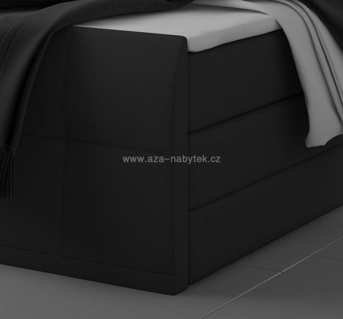 Postel boxspring Megakomfort 180 x 200 s úložným prostorem bonelová + taštičková matrace hnědá - kontinentální postel - Aza nábytek