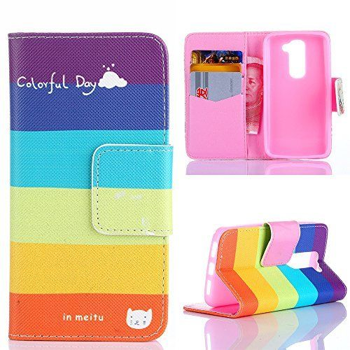 Yakamoz Colorful Day Rainbow Stripe Leather Flip Card Slots Wallet Stand Case for LG Leon / LG Power Phone with Free Screen Protector & Stylus Pen, http://www.amazon.com/dp/B00VX8G3AE/ref=cm_sw_r_pi_awdm_Yjypwb1SXDF0R