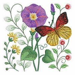 Garden Embroidery Designs flower garden embroidery design Butterfly Garden 6 4x4 Whats New Machine Embroidery Designs Swakembroiderycom