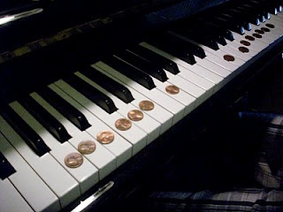 Lucky Penny Game* -- helps students locate piano keys associated with notes -- good variation in the comments