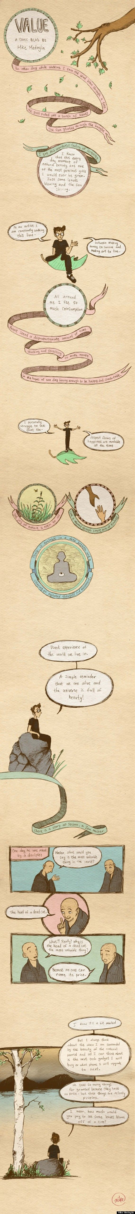 Meditation Comic Of The Week: What Do You Consider To Be A Gift Of True Value?