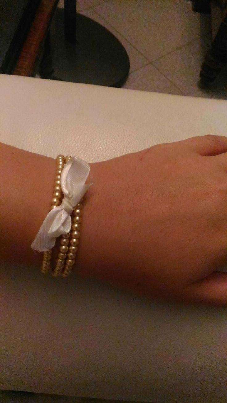 #bracciale #perle #fiocco #elegante #bonton