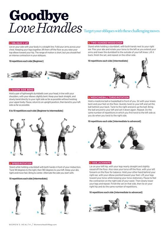 Exercis to get rid of those hard to get love handles