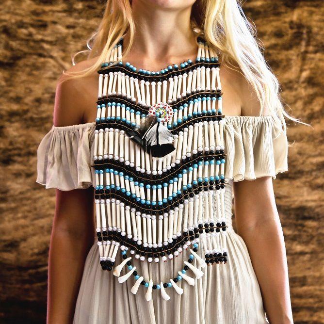 Large Native American Breastplate Choker - $49