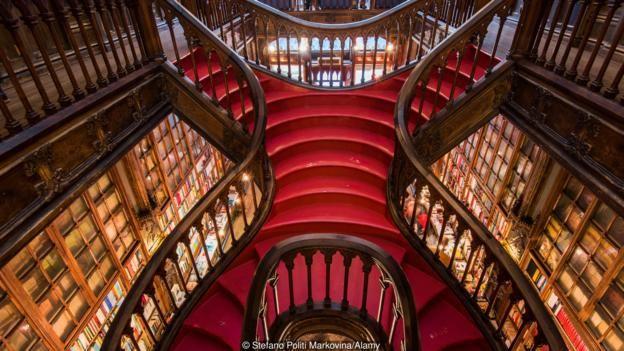 The beauty of Porto's Livraria Lello bookstore inspired a young JK Rowling (Credit: Credit: Stefano Politi Markovina/Alamy)