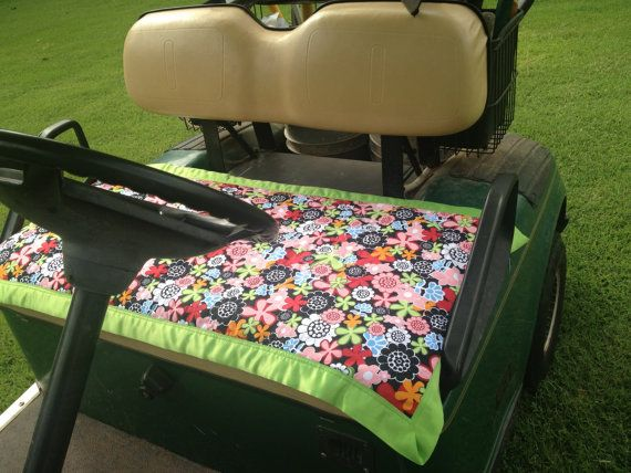 Ladies Golf Gifts Golf Cart Seat Cover men's by PrettifulCovers, $30.00
