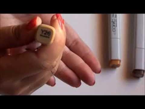 Copic Markers:colorazione capelli biondi