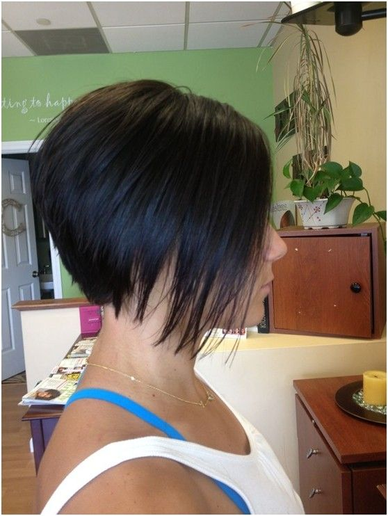 Stacked Bob Hairstyles Side View