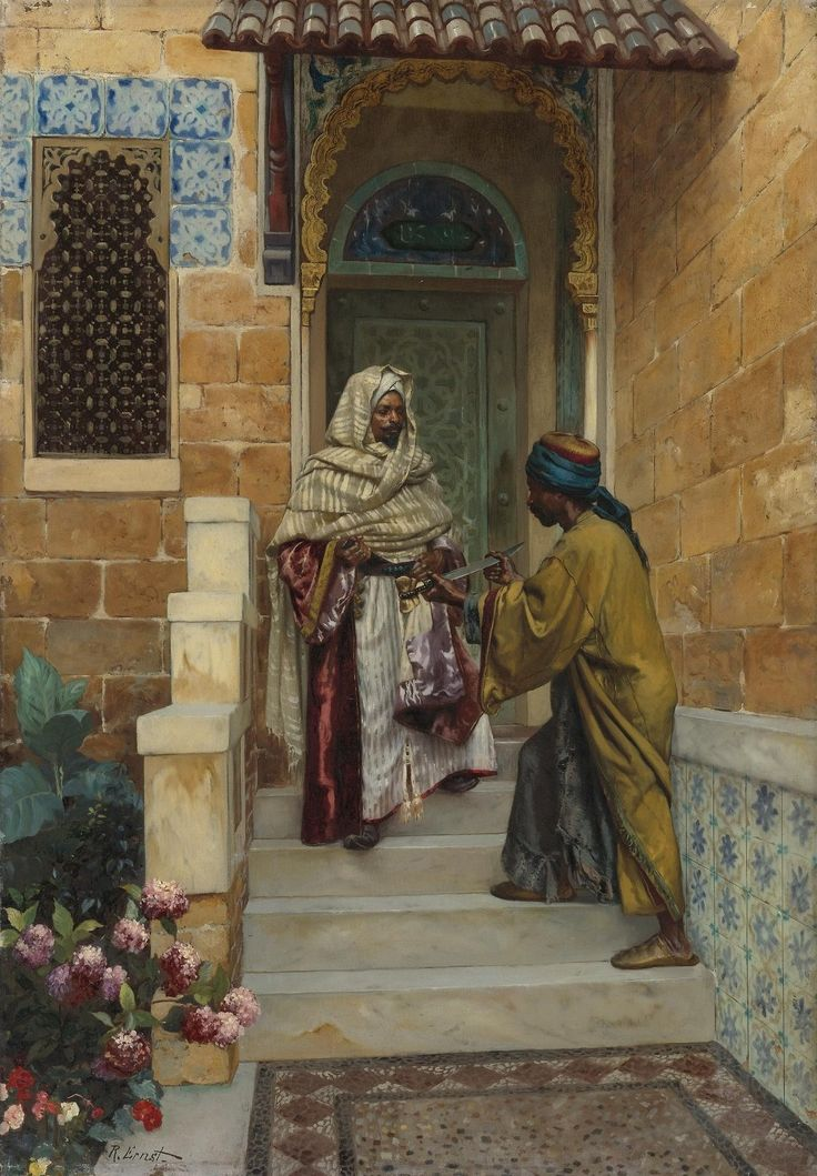 """art-and-things-of-beauty: """" Rudolf Ernst (1854-1932) - The Presentation, oil on panel, 64,1 x 44,5 cm. """""""