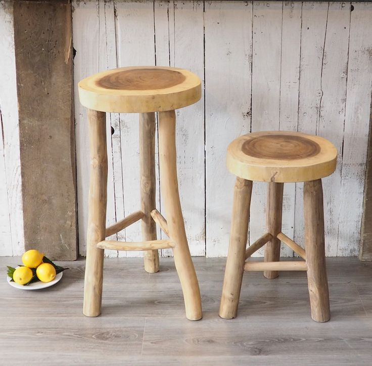 New Natural Wood And Very Rustic Stools Great Bar Or The Smaller Ones Are