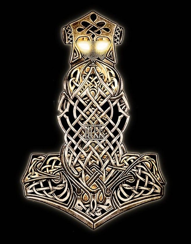 Awesome Thor S Hammer Design Norse Tattoo Nordic