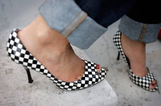 trying to find cute checkered shoes for our racing themed wedding is tough...but these are adorable!