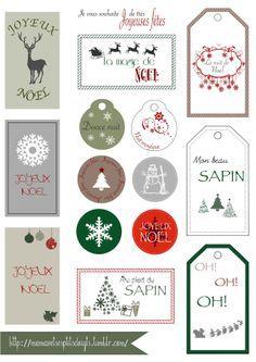 Etiquette de Noel à imprimer sur http://mamanetsesptitsdoigts.tumblr.com/