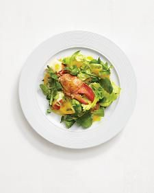 The sweetness of the lobster and tomatoes is balanced by a light but flavorful lemon-orange dressing. Tarragon adds a fresh zing.