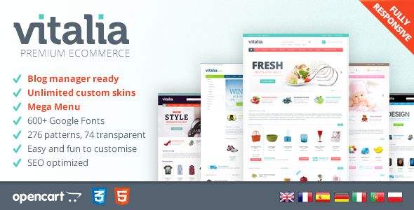 Discount Deals Vitalia - Responsive OpenCart TemplateYes I can say you are on right site we just collected best shopping store that have