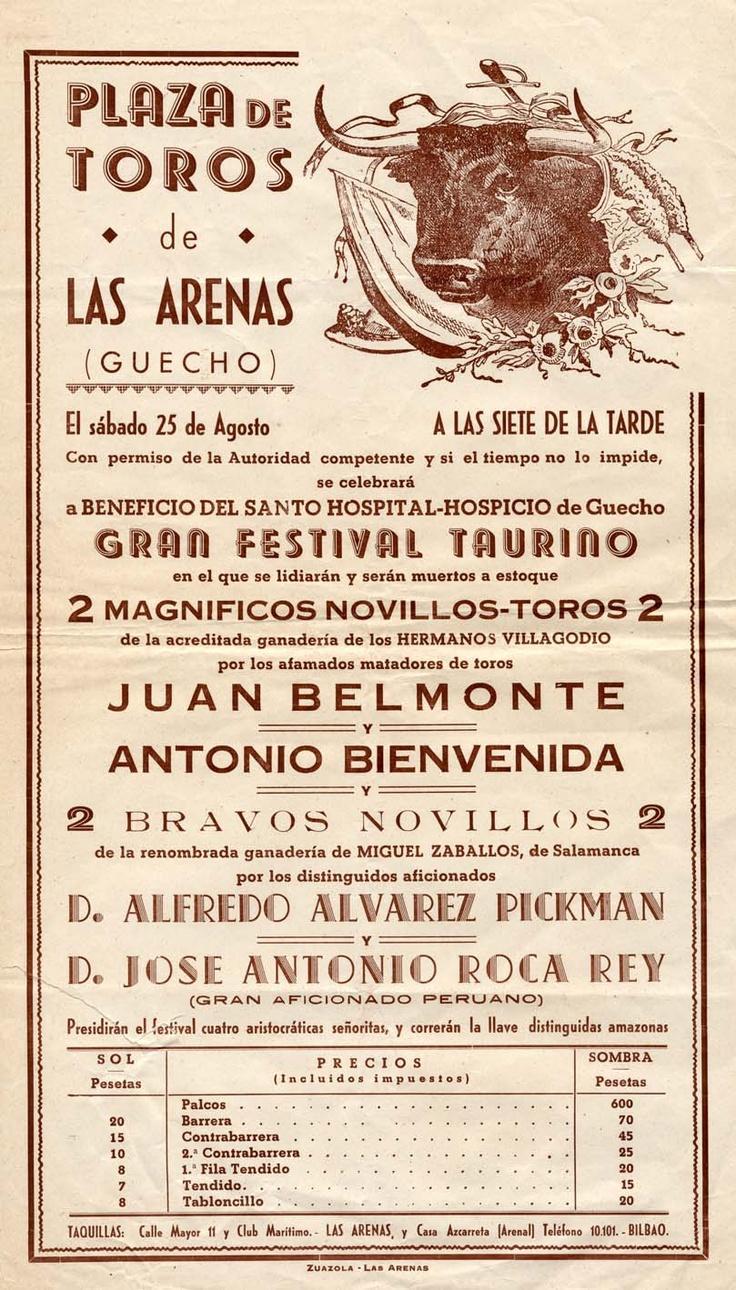 Corrida en la plaza de toros de Las Arenas, 25 de agosto ¿1945? (ref. D0094)