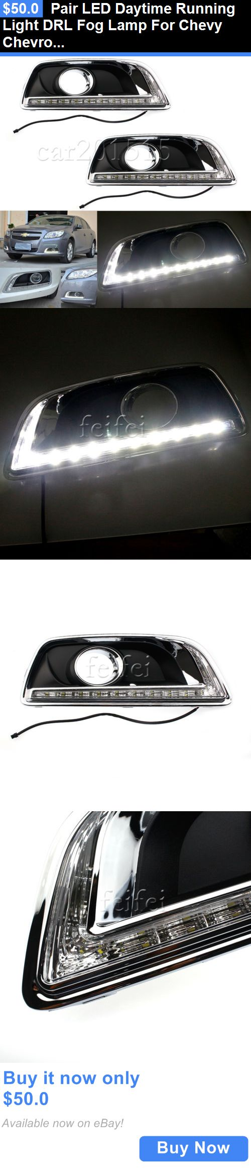 Motors Parts And Accessories: Pair Led Daytime Running Light Drl Fog Lamp For Chevy Chevrolet Malibu 2012-2014 BUY IT NOW ONLY: $50.0