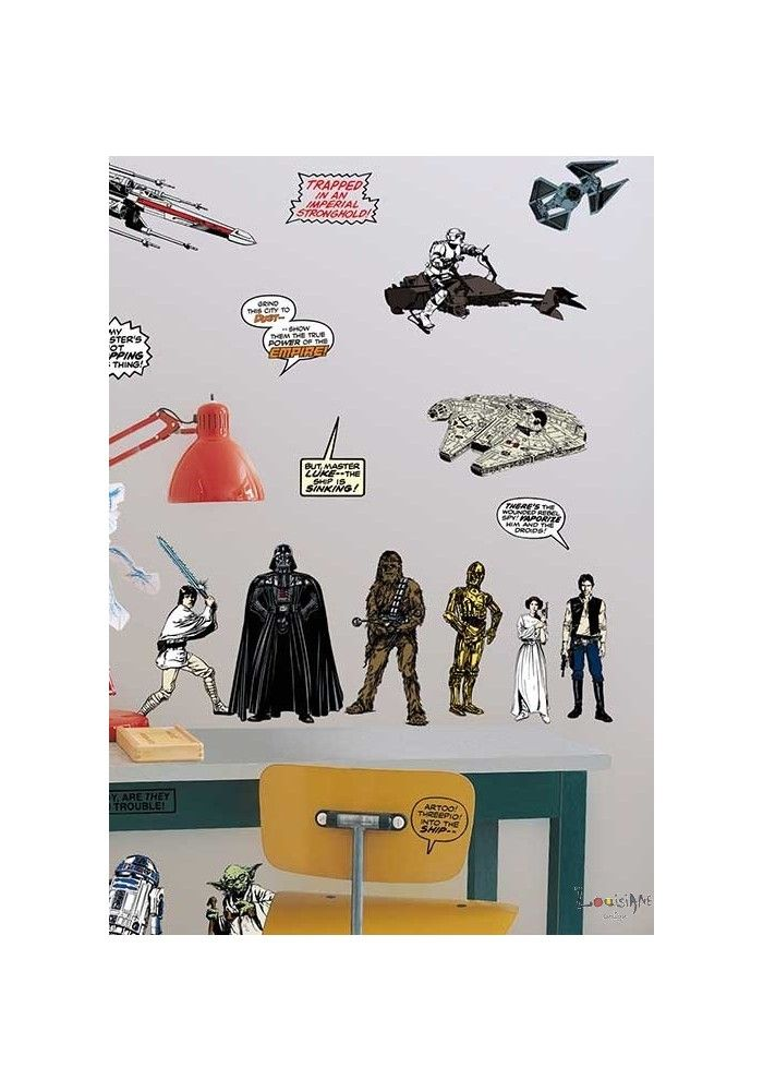 Star wars wall stickers kids decor by graham and brown
