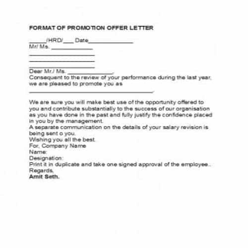 35 editable job promotion letter templates  besty