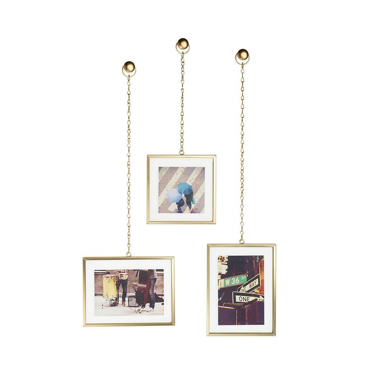 Buy The Fotochain Wall Photo Display Matt Brass From