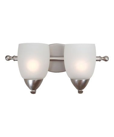 Another great find on #zulily! Brushed Nickel Mirror Lake Two-Light Vanity Light #zulilyfinds