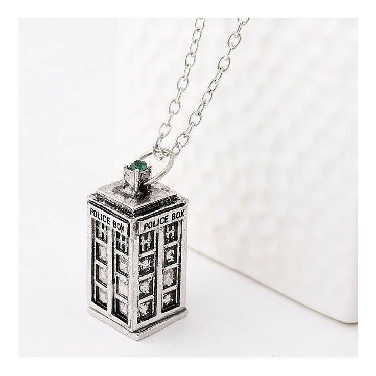 This #tardis charm necklace is perfect for any #DoctorWho fan! Link to shop in bio. #WishApp