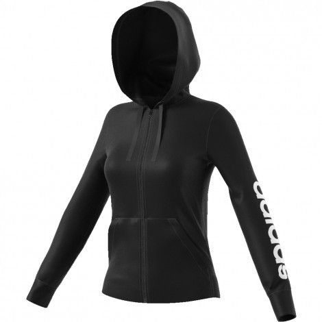 b48feb3aac4 ... De Wit Schijndel. Adidas Essentials Linear Full Zip Hoodie vest dames  black