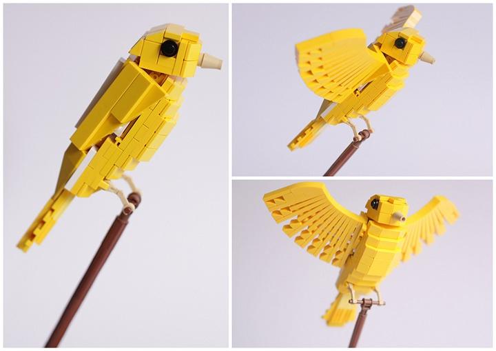 Tropische vogels gemaakt van LEGO