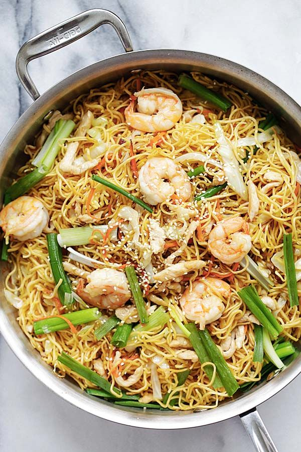 Chow Mein - quick and healthy Chinese fried noodles Chow Mein recipe that anyone can make at home. Tastes so much better than takeout   rasamalaysia.com