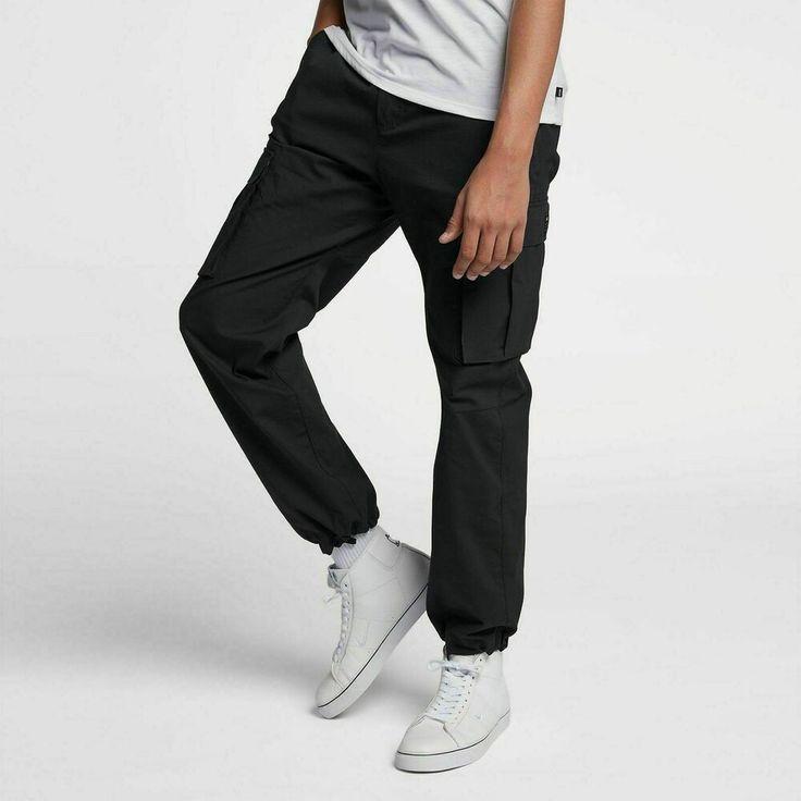 New Nike SB Flex Men's Skate Cargo Pants Black Size 40 916101-010 ...