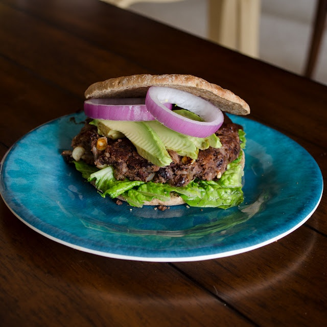 These Black Bean Burgers have salsa mixed right into the patty for a spicy kick.