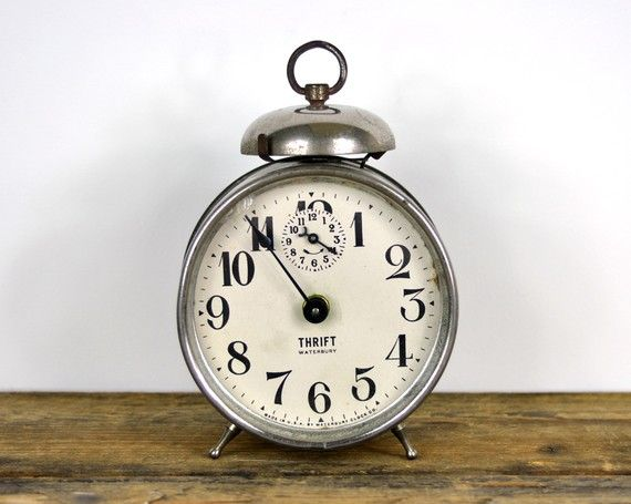 Vintage alarm clock. It doesn't tell time, but it sure looks pretty.