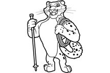 Klymer the Snow Leopard line art--day one Bible Memory Buddy.  Learn more about Everest VBS by visiting http://www.group.com/everest. #EverestVBSClipArt #EverestVBS2015