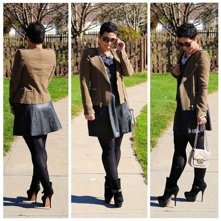 Little Leather Dress - Mimi G Style