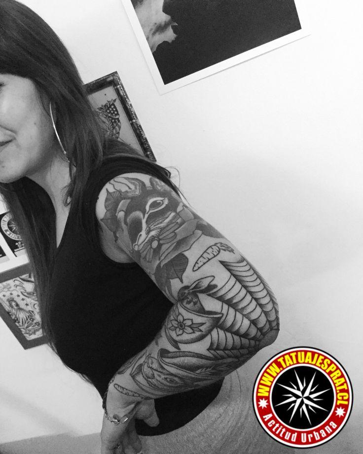 tatuaje tela de araña tatuajes prat santiago chile by camilo prat