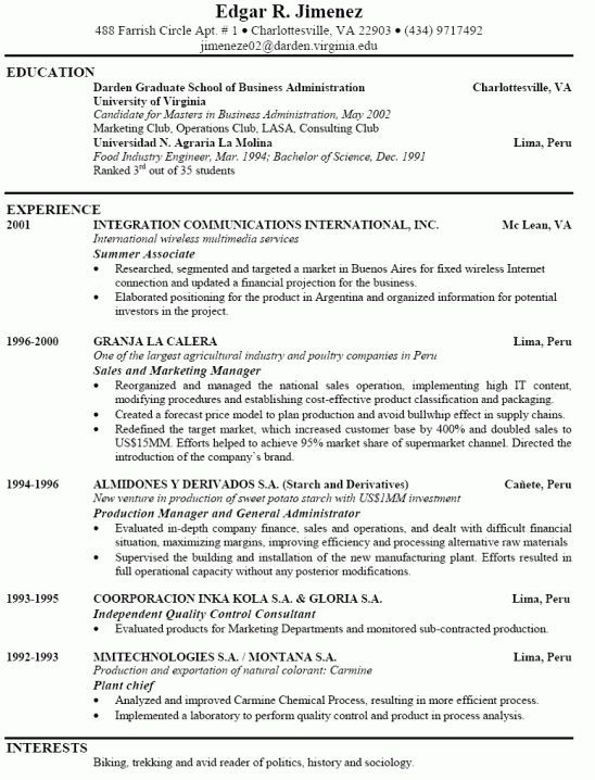 Should A Resume Be Just One Page - Vision professional