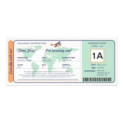 Best Boarding Pass Invitation Template Images On