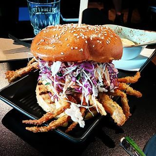 Bowerys soft shell crab burger Awesomeness in every bite Thankshellip