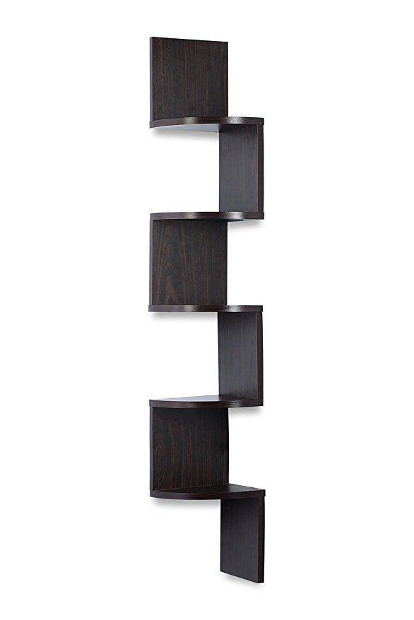 Amazon Com Corner Shelf Espresso Finish Corner Shelf Unit 5