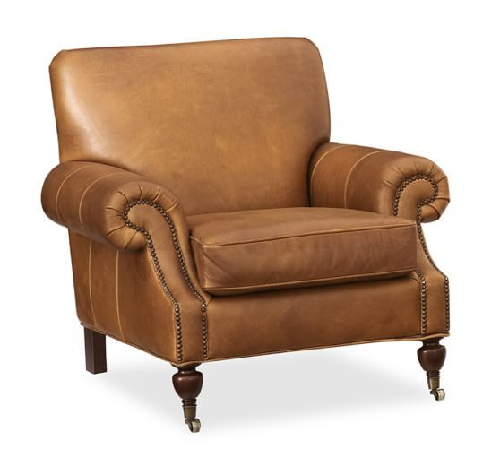 Brooklyn Leather Armchair Pottery Barn For The Home
