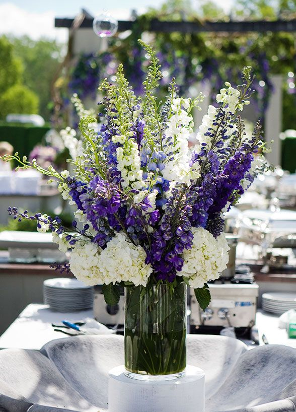 Delphinium. This long stemmed flower is covered in star-shaped blooms that make quite a statement, how's that for your something blue?! Wedding Flowers, Wedding Decorations, Bouquets, Summer Flowers