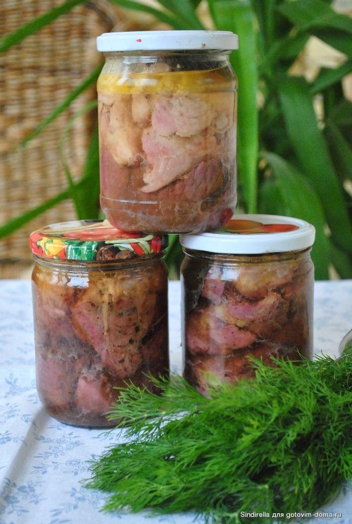 Тушёнка из свинины в скороварке.