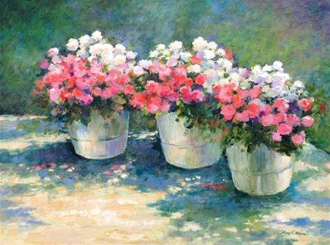 """Daily Paintworks - """"Impatiens"""" - Original Fine Art for Sale - © Nancy F. Morgan"""