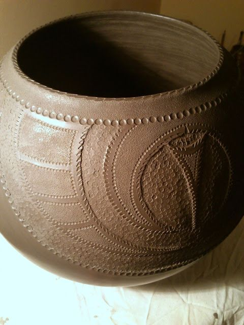 Katarina Bobic's Coiled Pottery. Really cool pinch pots and decoration style!