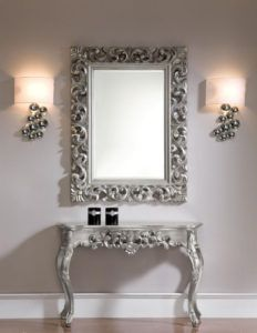 Silver Console Table With Mirror