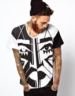 superb print shirt. bit pricey but...whatevs:) KESH x American Apparel Oversize Allover Print T-Shirt