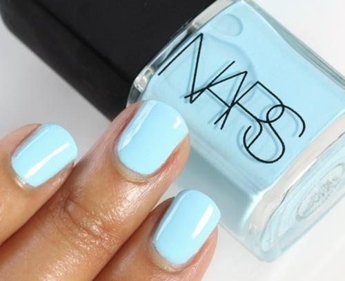 Blauwe nagellak