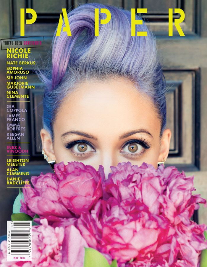 Nicole Richie's Lilac Hair Covers Paper Magazine's May Issue. » Rainbow Hair Colour