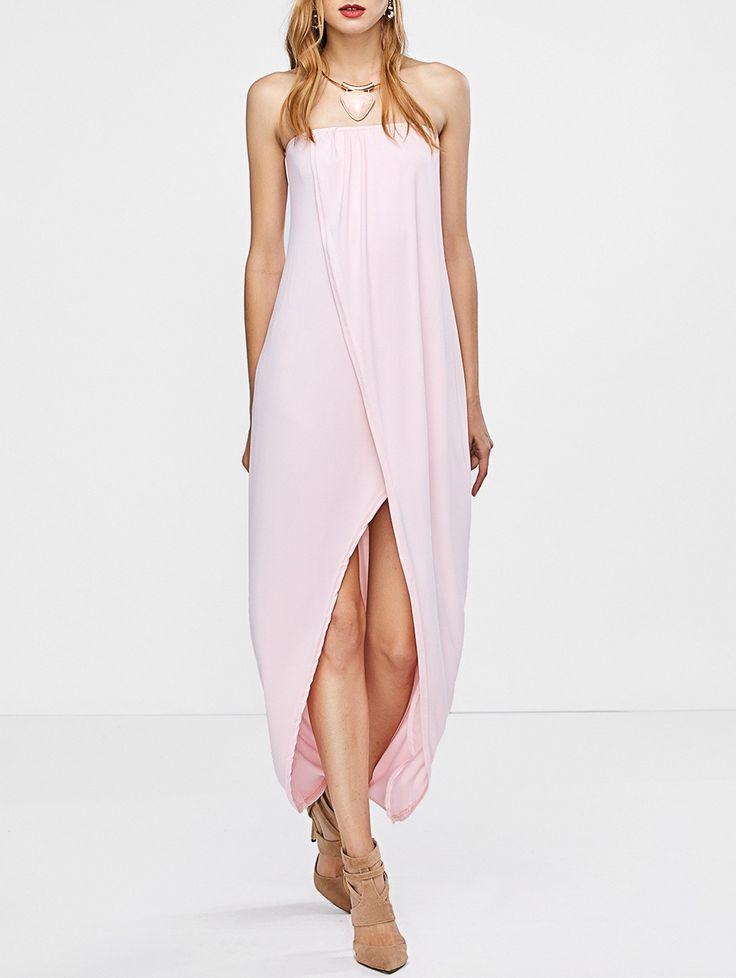 strapless pink dress